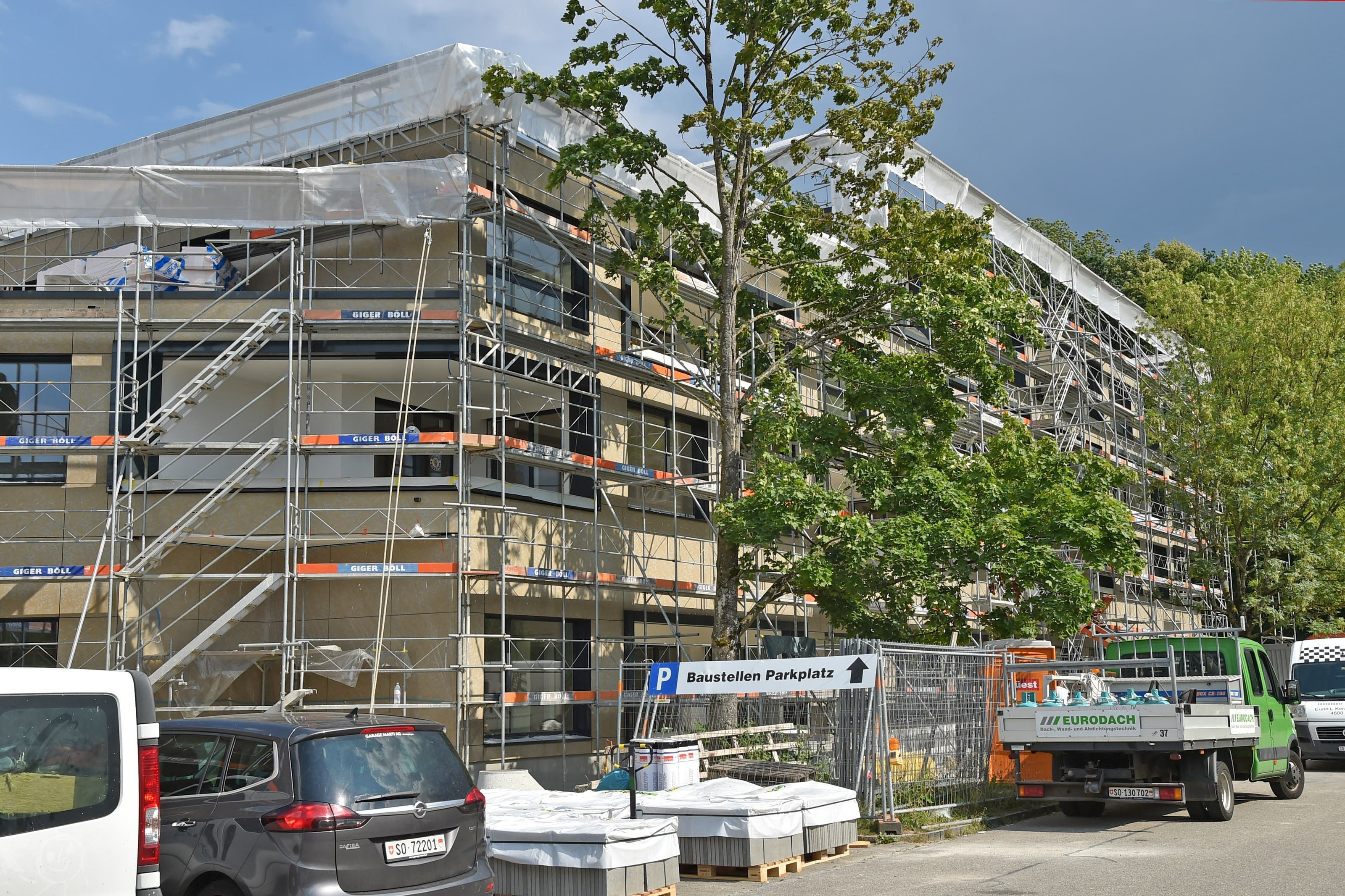 Bei der Alterssiedlung Brüggli in Dulliken wird gebaut.