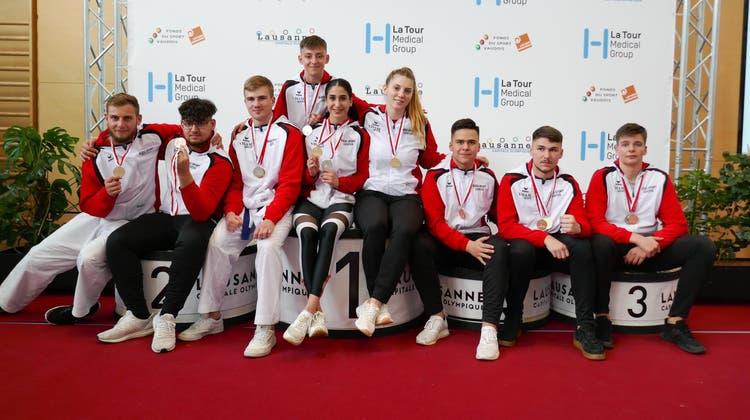 18 Medaillen für die Karatesportler vom Budo Sport Center Liestal am zweiten Swiss-Karate-League-Turnier in Lausanne