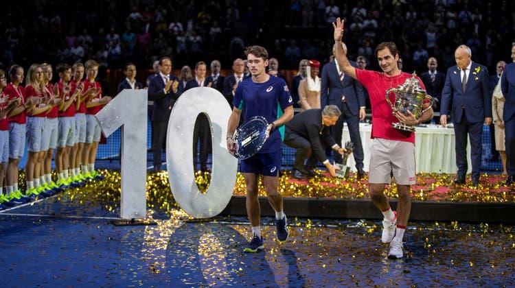 Das sind alle 103 Turniersiege von Roger Federer