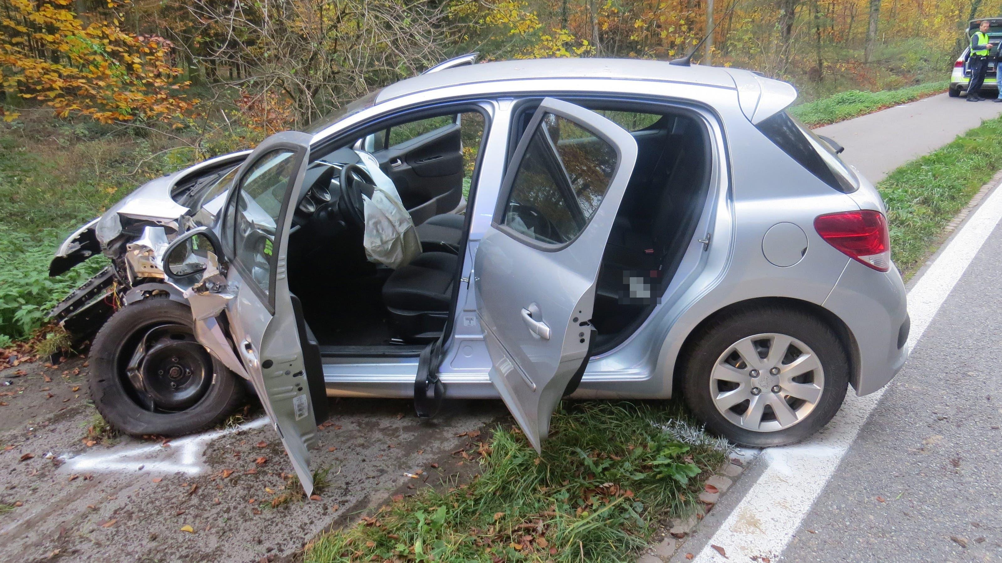 Unfall zwischen Mellingen und Birrhard