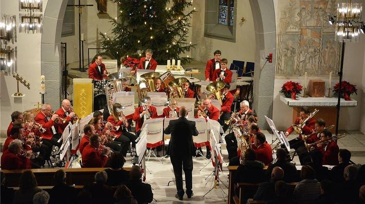 Brass Band plant ein Konzert in Harmonie