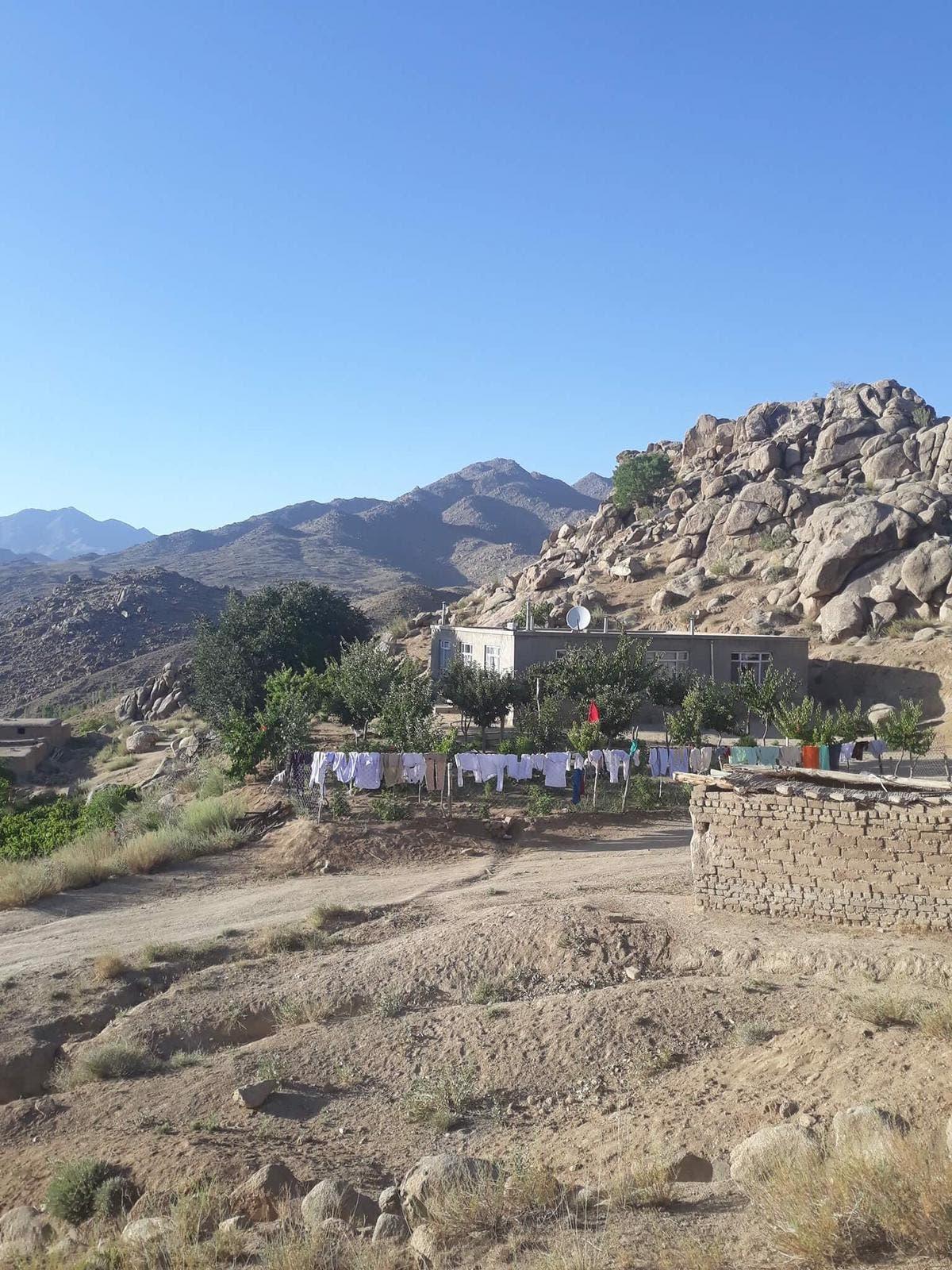 In diesem Haus in Afghanistan ist Yasin Sarwari aufgewachsen.