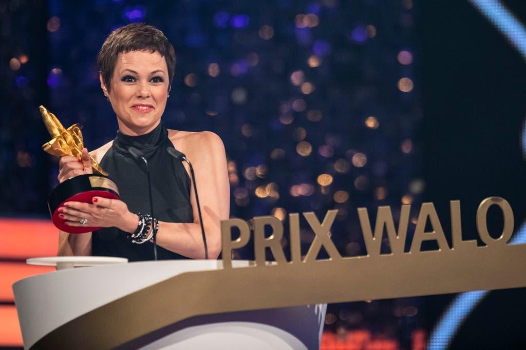 Die Sängerin hielt an der Verleihung des 44. Prix Walo im Mai 2018 eine Rede.