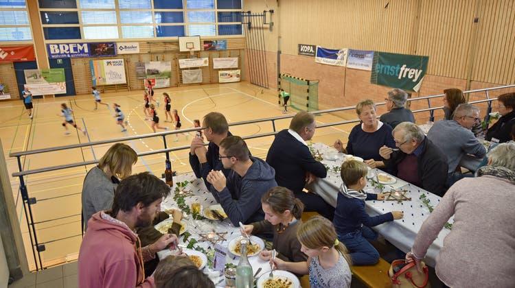 Gut besuchter Spaghetti-Plausch des TSV Frick Handball