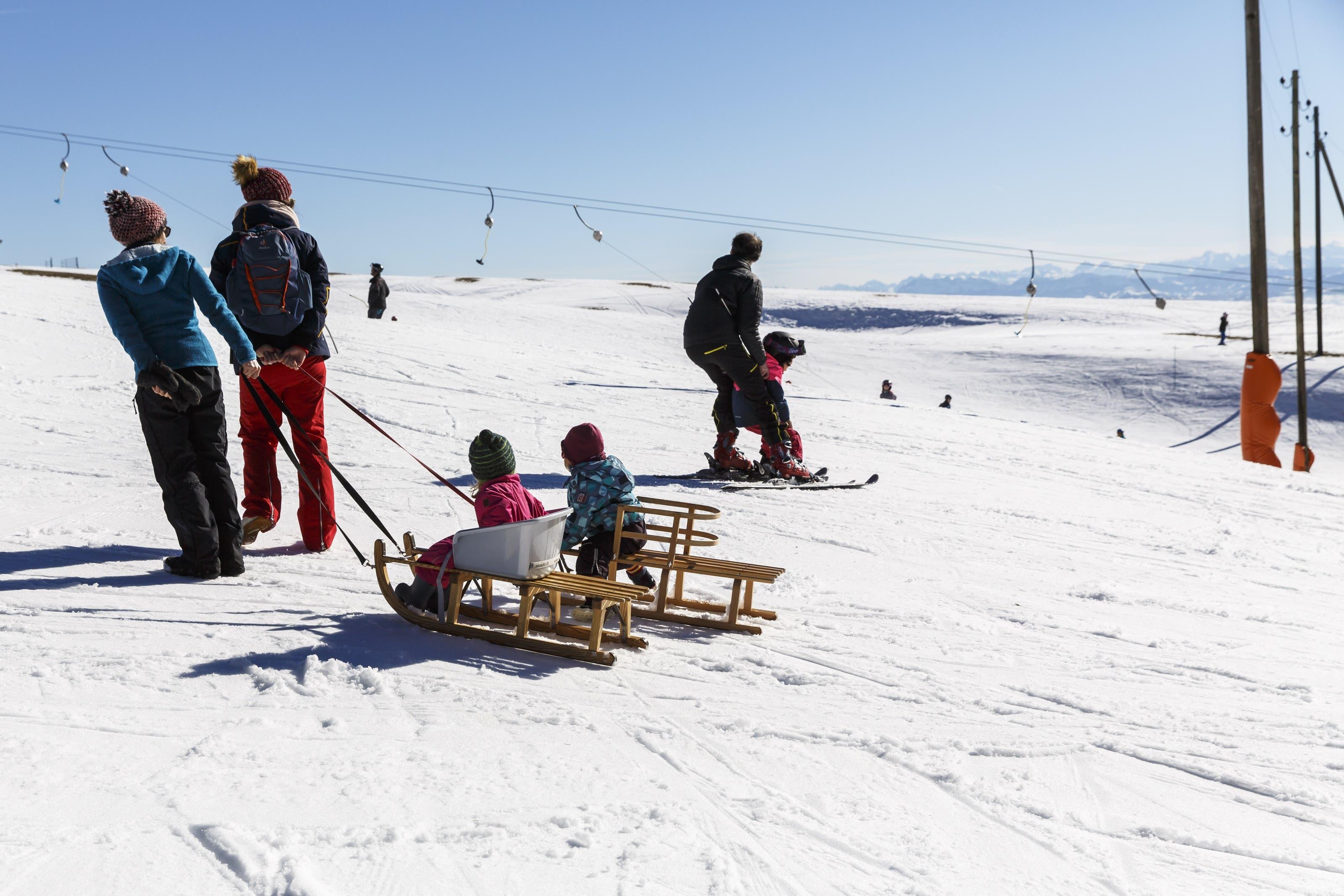 Skifahren auf dem Balmberg