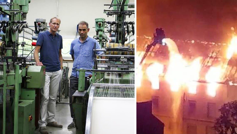 Nach Brand mit Todesopfer: Bänderfabrik produziert wieder – Psychologen unterstützen Mitarbeiter