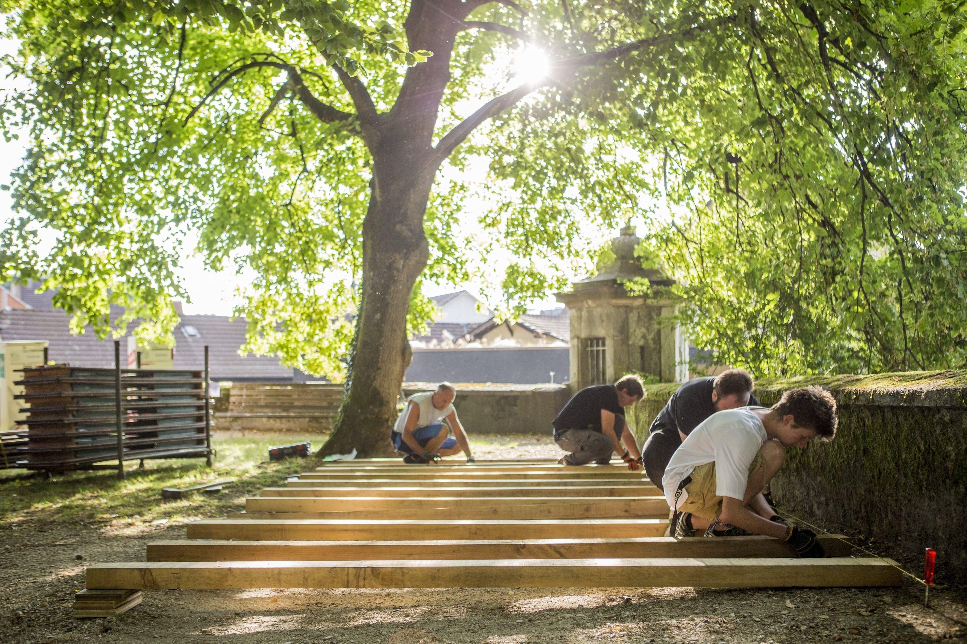 Aufbau für die Solothurner Sommerfilme 2018