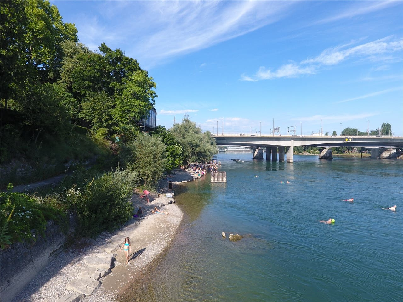 Rhein und Hitze