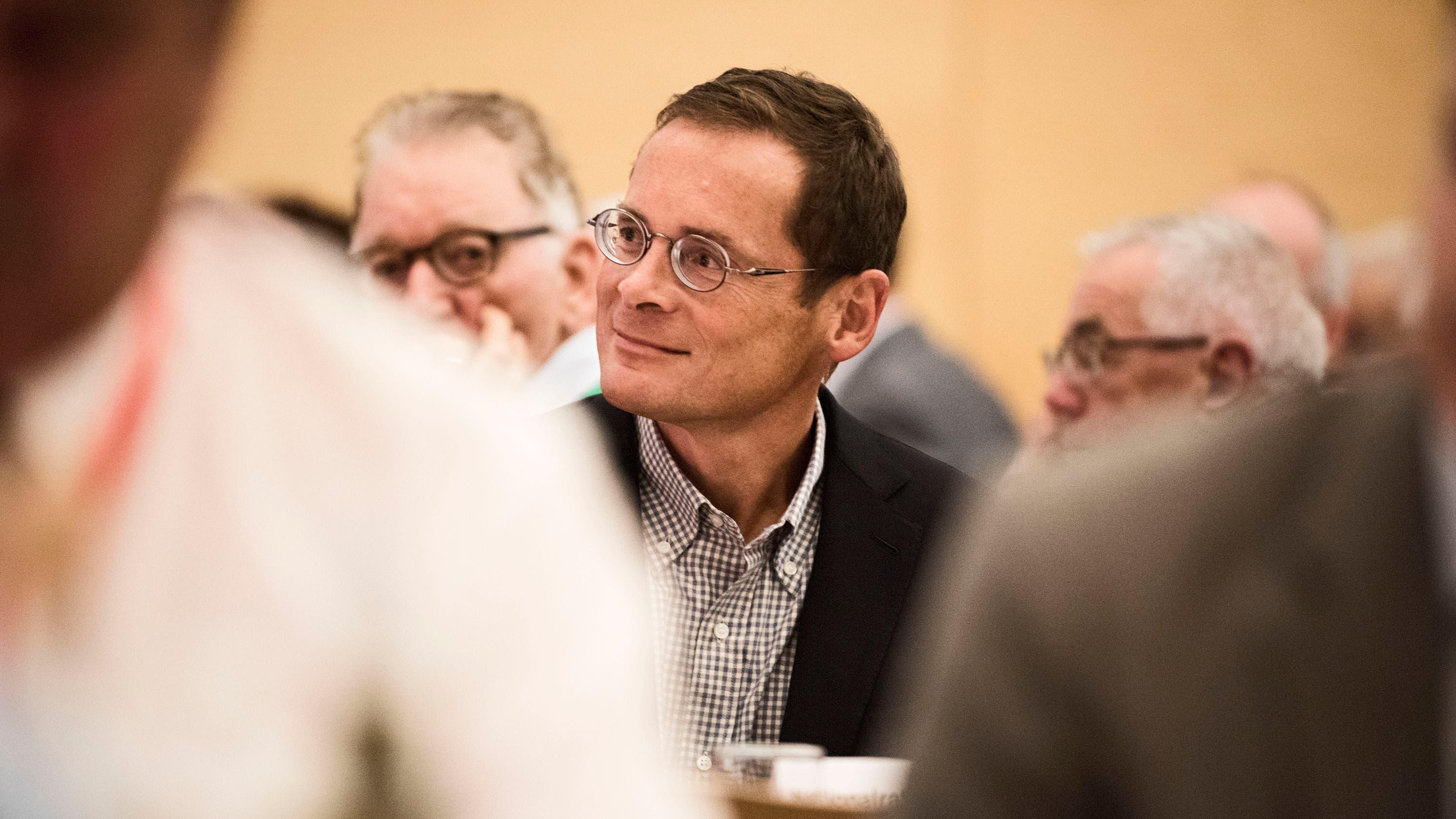 SVP-Nationalrat Roger Köppel kam mit...