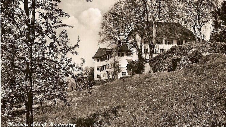 Als das Schloss Brestenberg eine Wasserheilanstalt war und Kranke von weither anreisten