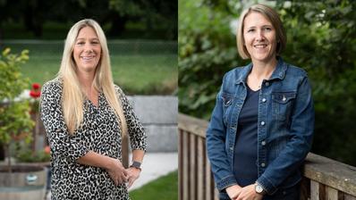 Jasmin Oosthuysen (SVP, links) und Sabrina Egger-Liechti (CVP) (Bilder: Ralph Ribi (24. Juli 2020))