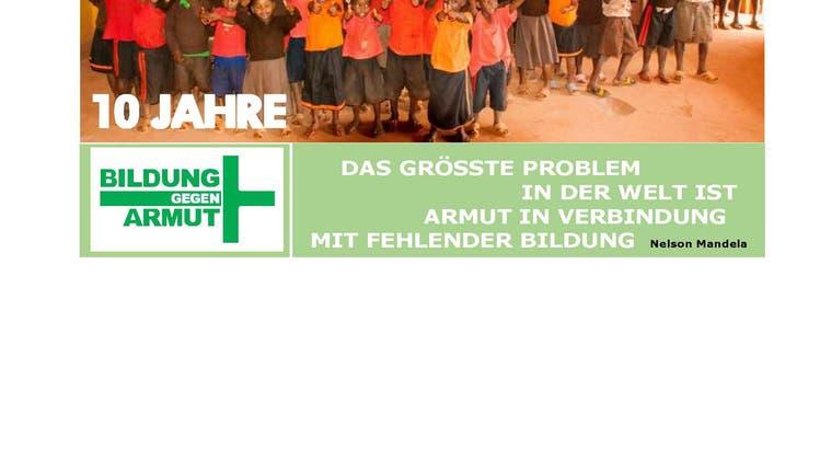 """10-jähriges Bestehen von """"Bildung gegen Armut"""""""