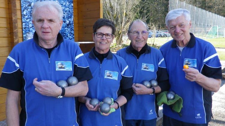 Pétanque Club Entfelden gewinnt Aargauer Hallencup