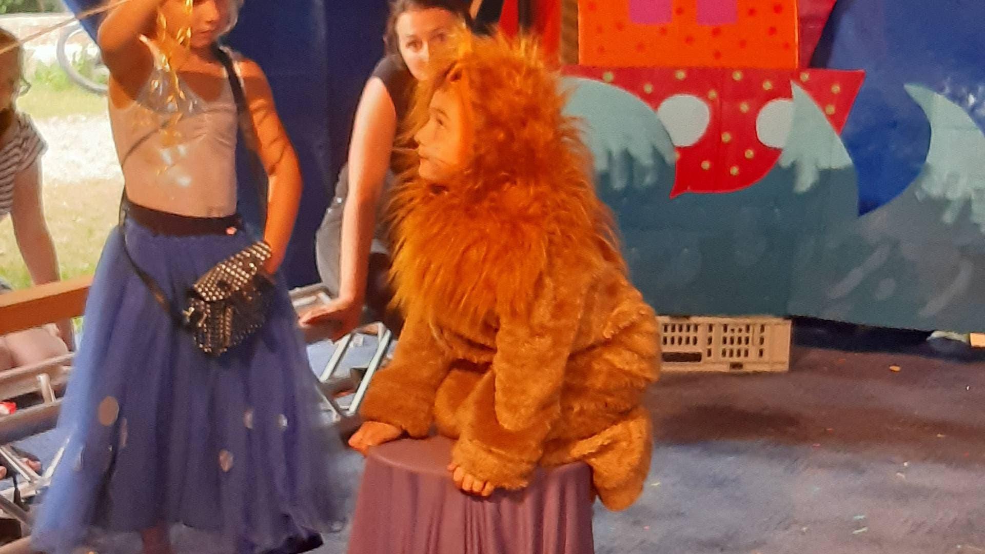 Tierdompteuse zähmt Löwen