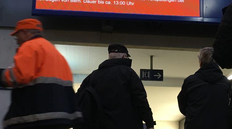 SBB-Strecken Bern-Olten und Olten-Solothurn waren stundenlang unterbrochen