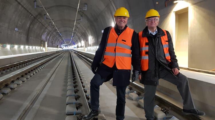 Das sind die beiden Solothurner «Väter» des neuen Bözberg-Tunnels