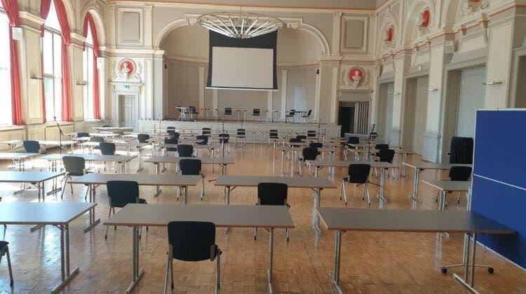 Parlament sitzt für die Mai-Sitzung zwei Abende im Konzertsaal