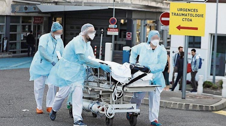 Infiziertes Klinikpersonal im Elsass