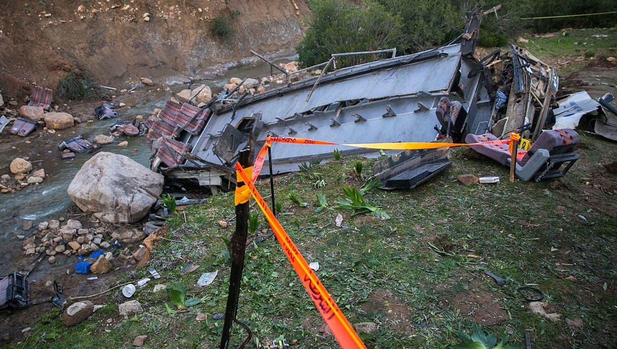 Die Unfallstelle liegt in einer abgeschiedenen Bergregion in Tunesien.