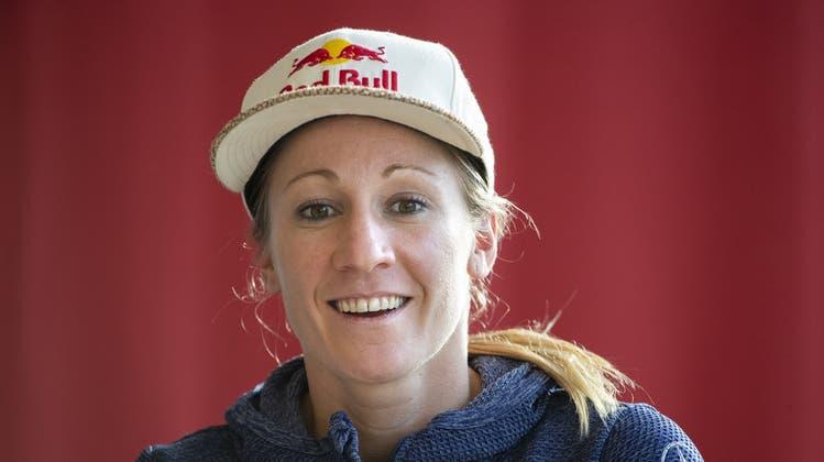 Daniela Ryf tritt im Training derzeit kürzer. (Peter Klaunzer / KEYSTONE)