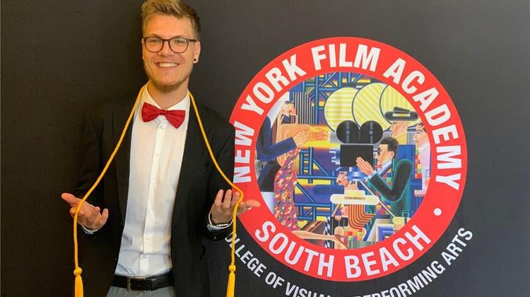 «Mein Ziel ist es, Regisseur von Spielfilmen zu werden»: Oltner schliesst Filmschule in Miami ab