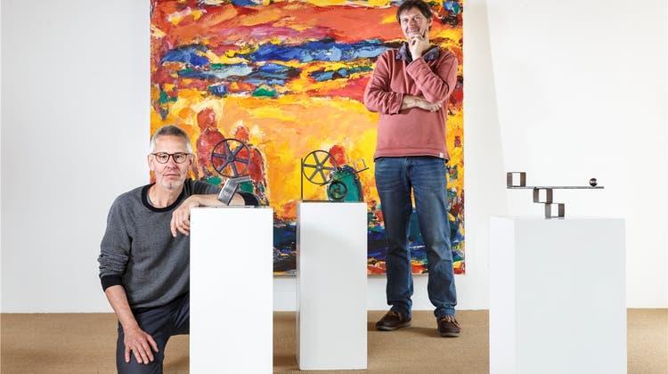 Christoph Flück und Kurt Baumann überraschen mit ihren Werken im Schlösschen Vorder-Bleichenberg