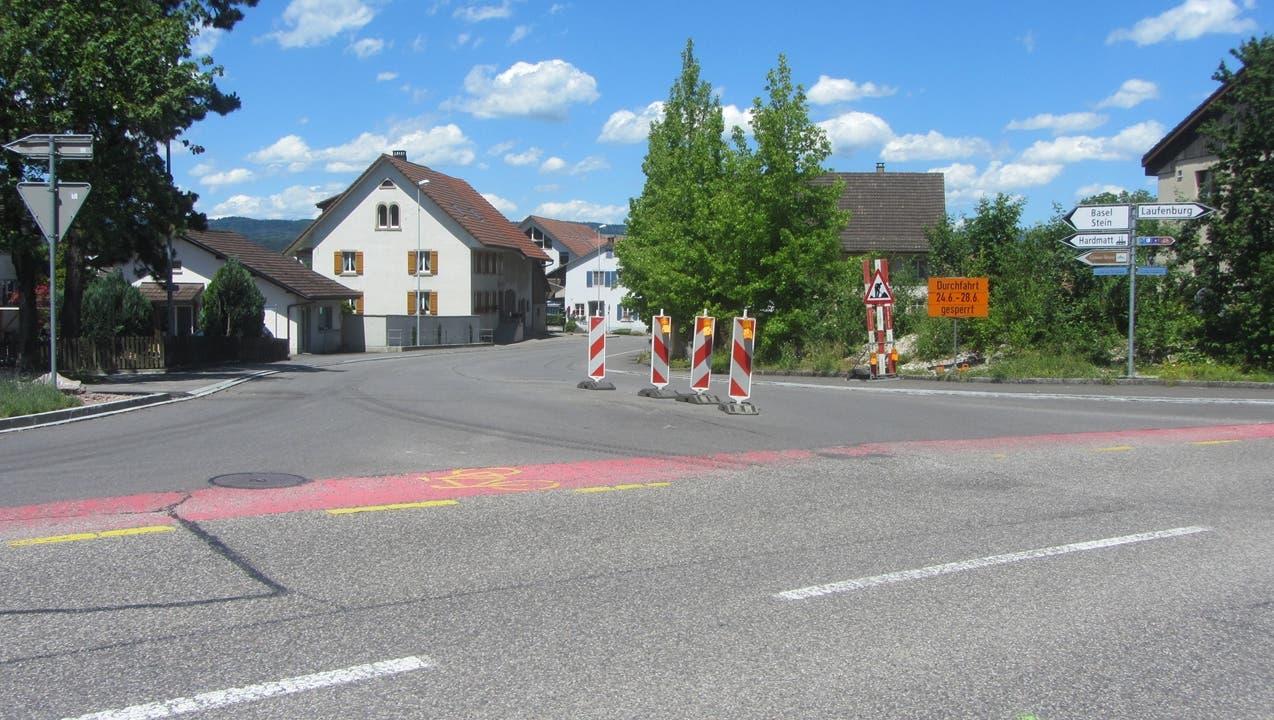 Wegen Bauarbeiten: Kantonsstrasse muss gesperrt werden