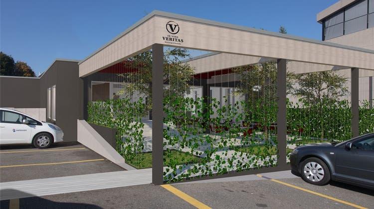 Wein-Bar mit Industriecharme: Im ehemaligen Swisscom-Gebäude wird künftig südländische Kultur zelebriert