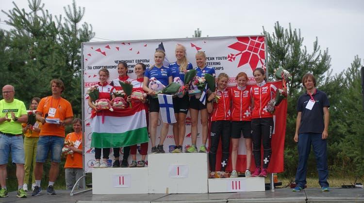 Lilly Graber verlor die Orientierung nicht: Staffel-OL-EM-Medaille für junge Aargauerin in Weissrussland
