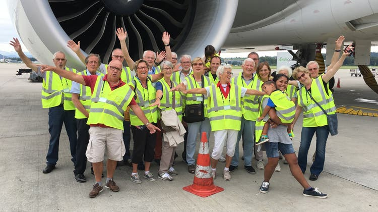 Führung auf dem Flugplatz Kloten