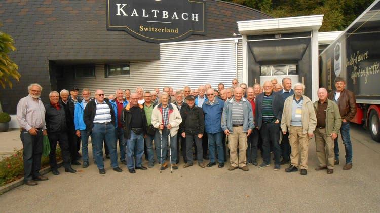 Seener-Männerstamm auf Besuch bei Emmi-Käse AG in Kaltbach