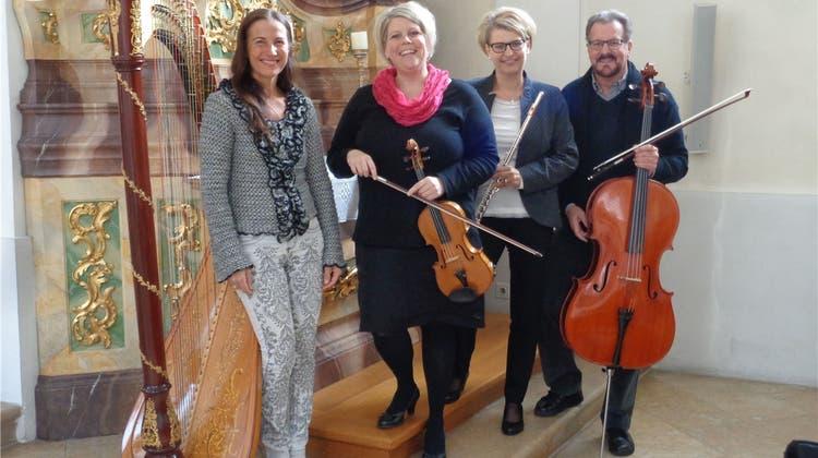 «Trio flautarco» spielt mit Harfe am Martinstag
