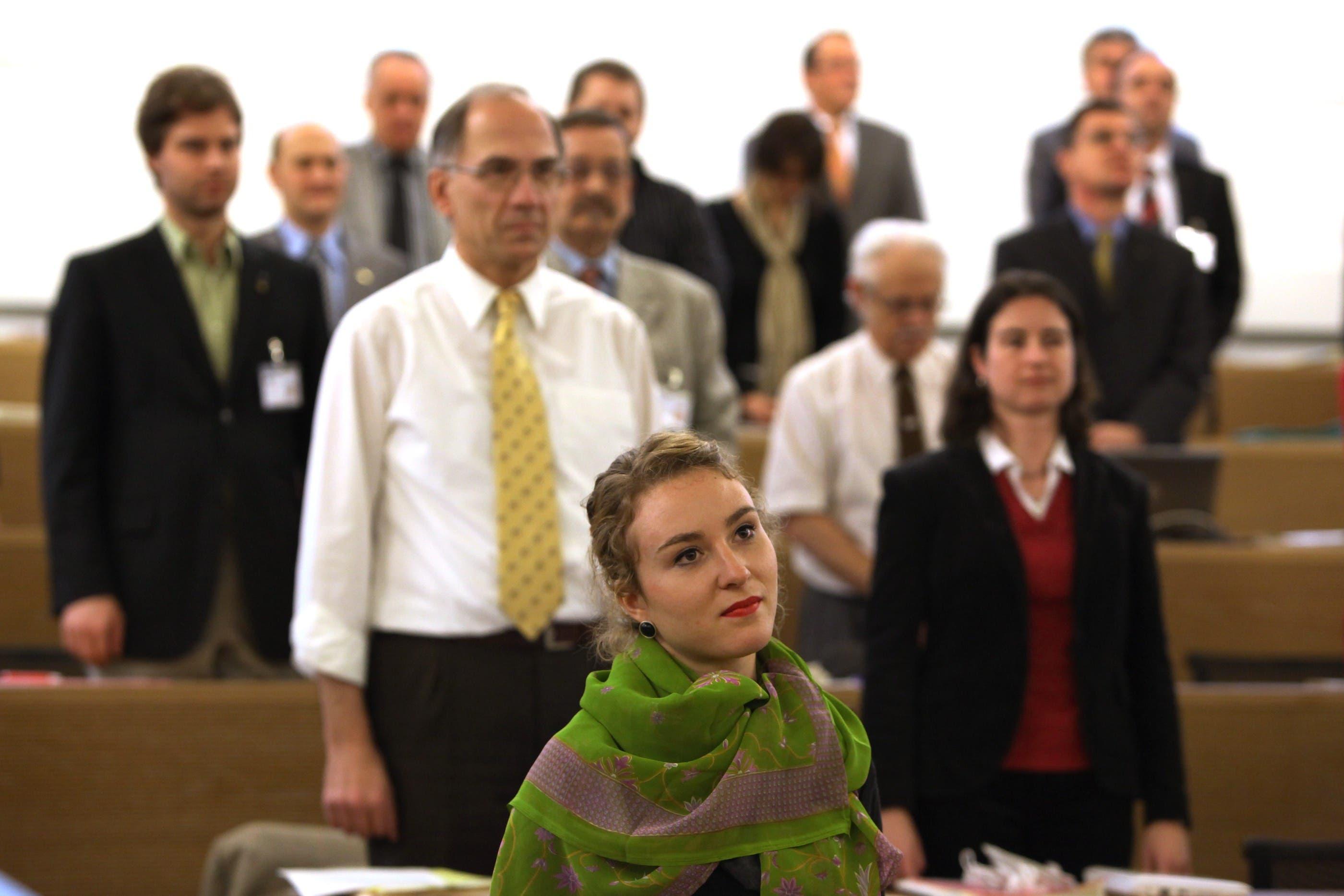 2010 schaffte sie als 22-Jährige den Sprung in den Grossen Rat: Irène Kälin bei der Inpflichtnahme für den Grossen Rat.