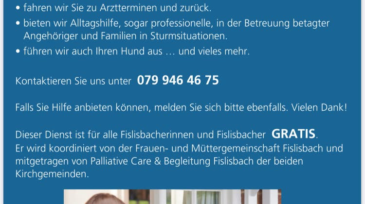 Solidarität für Fislisbacher von Fislisbachern