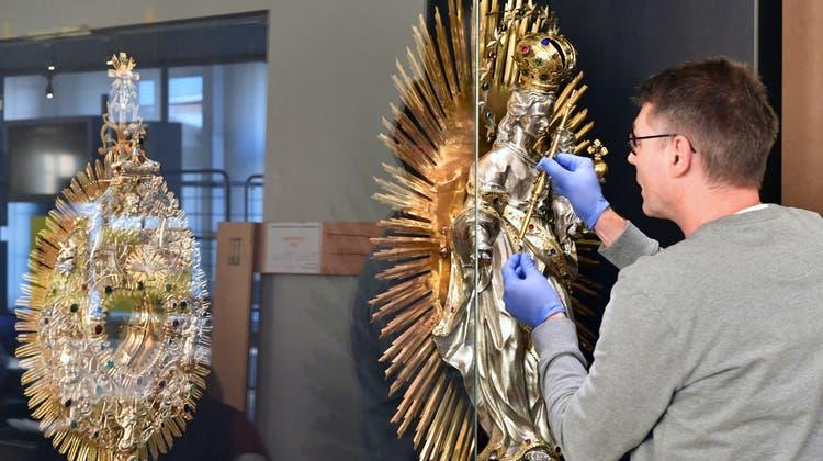 Sie nahm den Lift ins Haus der Museen: Die Oltner Madonna ist zurück