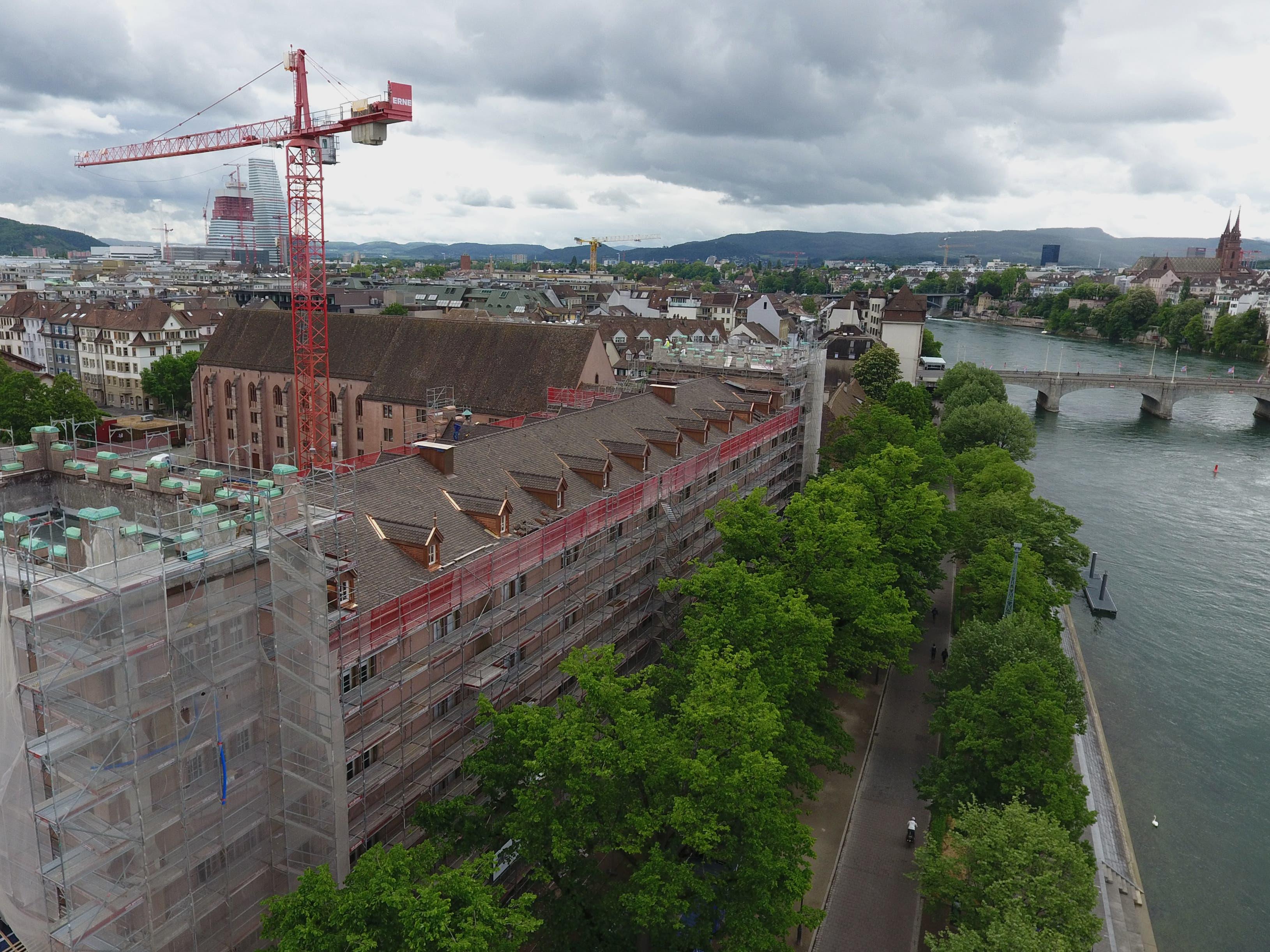 Blick auf die Baustelle der Kaserne Basel am 29. April 2020.