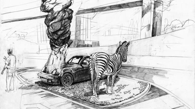 Antihelden des Alltags: Christoph Fischer im virtuellen Rundgang durchs Cartoonmuseum
