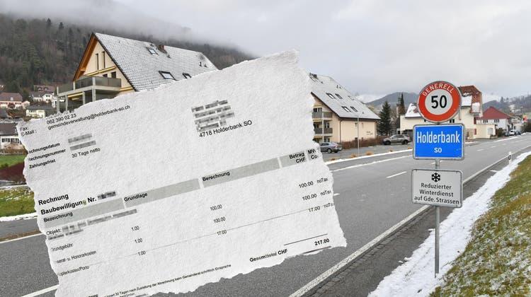 Alles rechtens in Holderbank? Gebühren für Baugesuche sorgen für Verwirrung