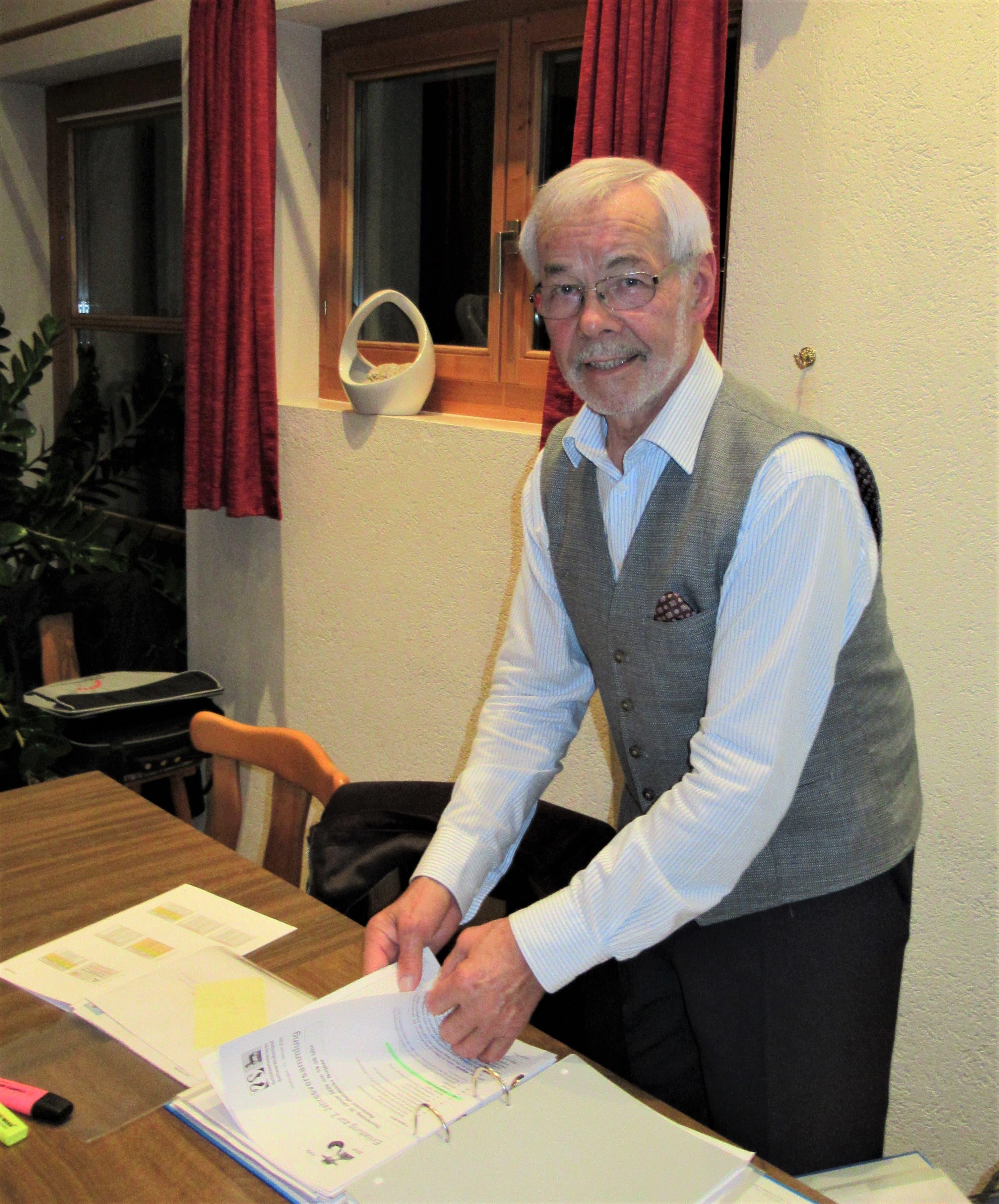 Präsident SVSL: Werner Hänggi, Meltingen