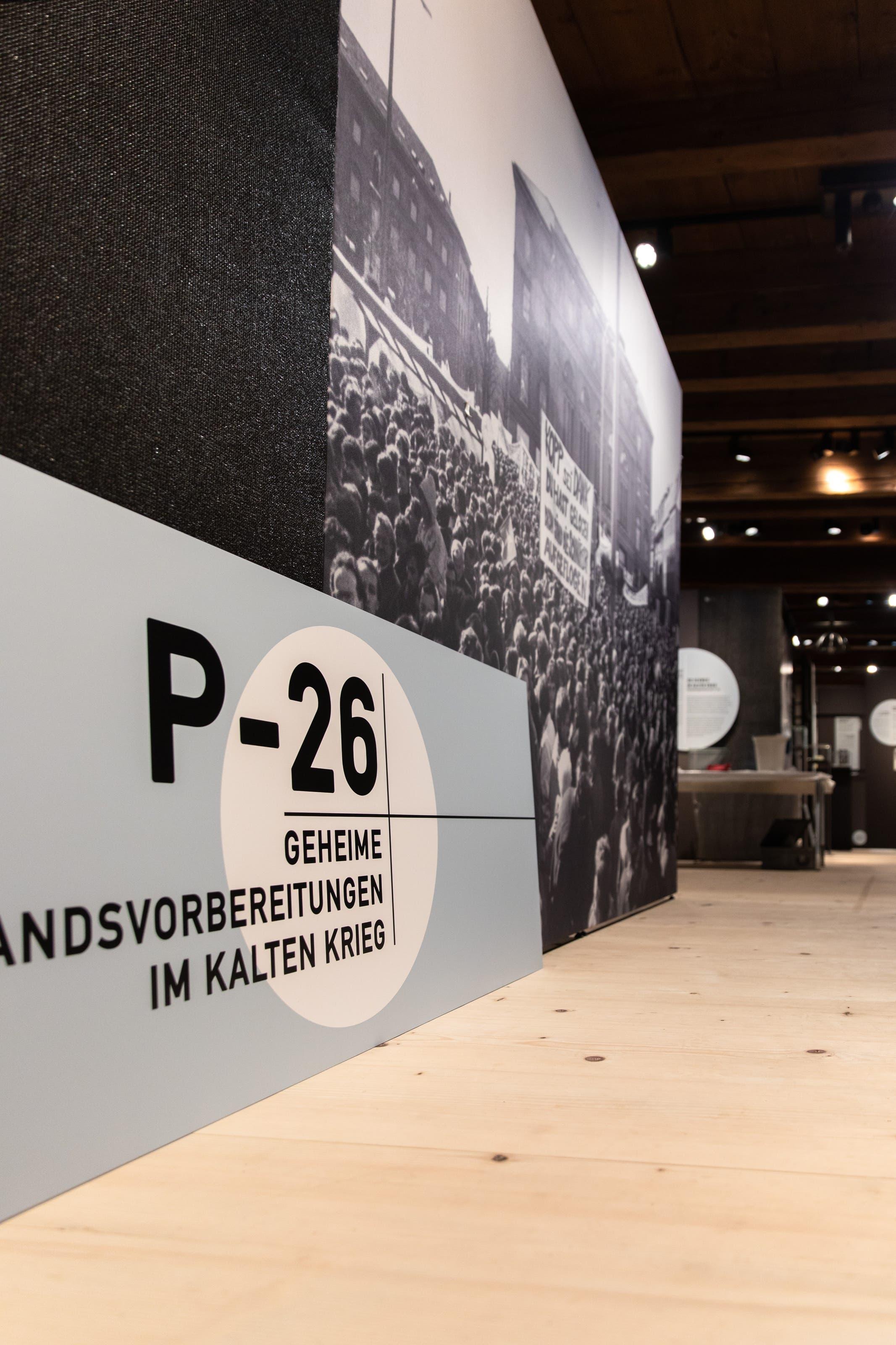 Die neue Sonderausstellung «P-26 - Geheime Widerstandsvorbereitungen im Kalten Krieg» im Museum Altes Zeughaus zeigt ein Kapitel der jüngsten Vergangenheit der Schweiz.