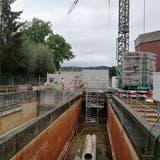 Das Abwasser wird talaufwärts gepumpt — Leitung ist seit drei Monaten in Betrieb