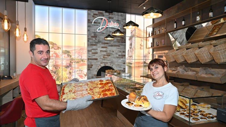 Pizza, Pasta und Blumen to go: Gute Geschäfte im renovierten Bifanggebäude A55