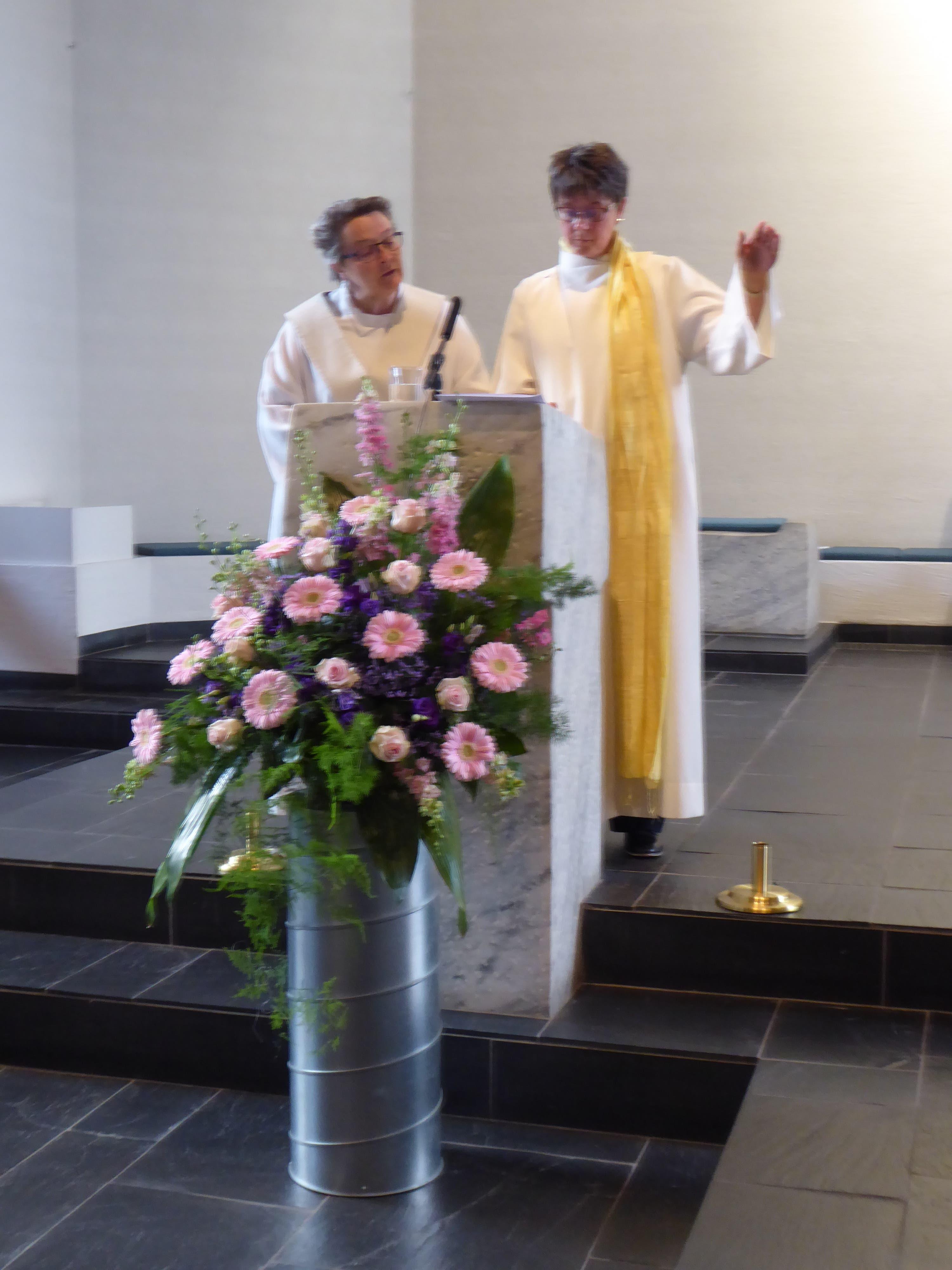 undefined Verbandspräses Beatrice Emmenegger und Pastoralraumleiterin Andrea Allemann gestalteten den feierlichen Wortgottesdienst