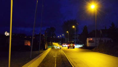 Mittels Steuerung: In Scherz werden die Strassenlampen schlau