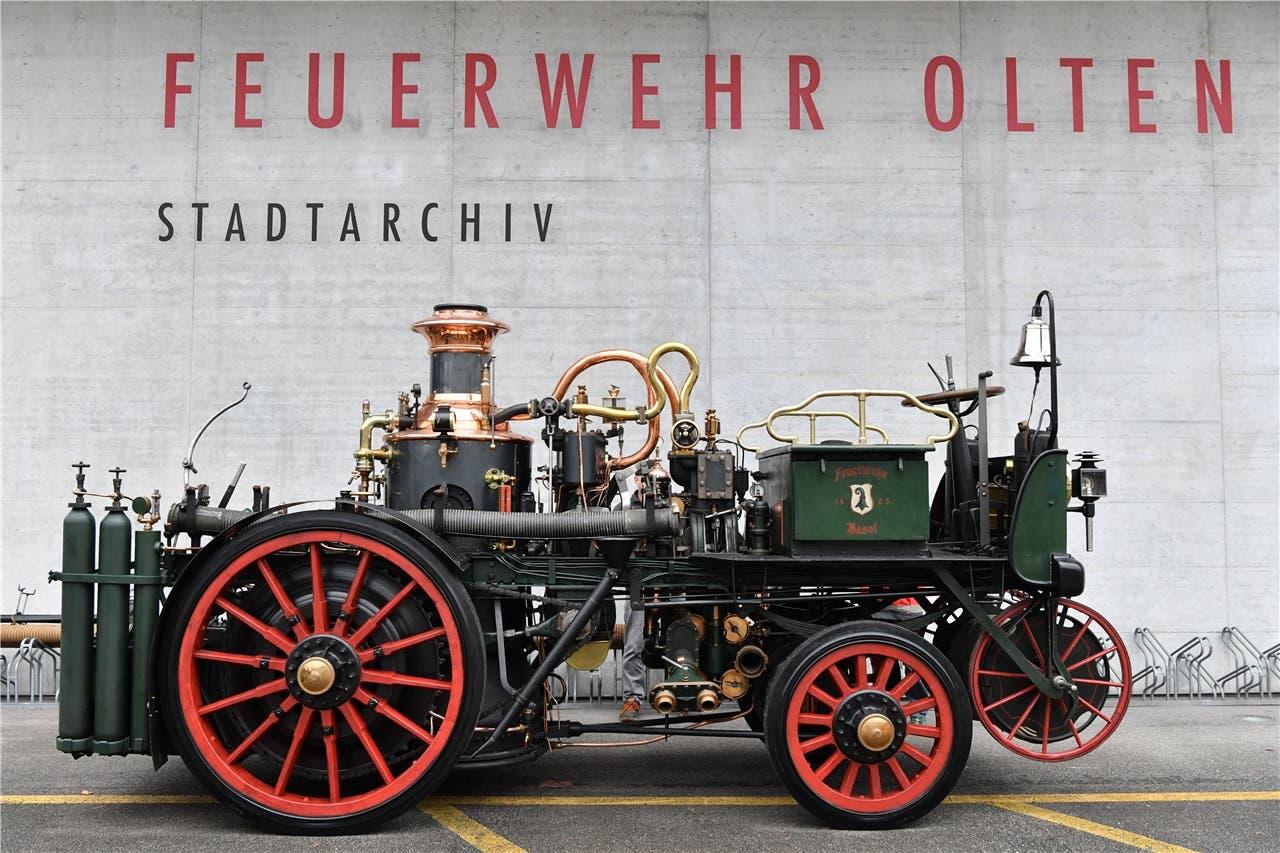 Die Automobildampfspritze in neuer Pracht. (zvg / Bruno Kissling)