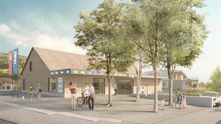 Mit der Überbauung Breiti entsteht im Bereich des künftigen Volg-Ladens ein neuer Dorfteil