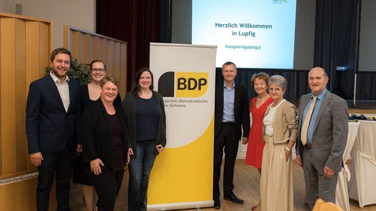 BDP Aargau fordert in Anwesenheit ihrer Alt-Bundesrätin Lösungen zum Klimaschutz