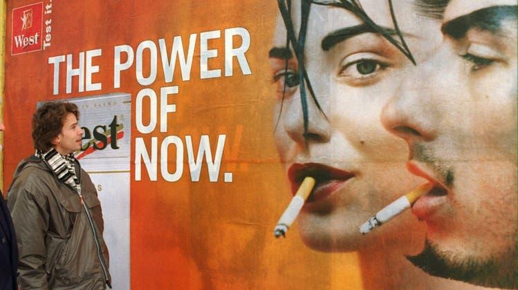 Werbeverbote für Tabakwaren werden ausgedehnt