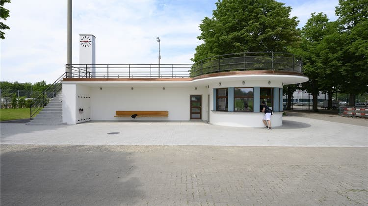 Der ehemalige Kiosk auf dem St. Jakob-Areal sieht wieder so aus wie 1934