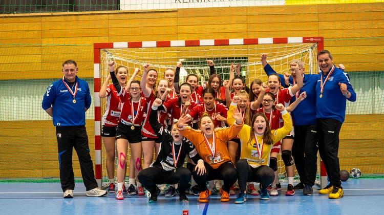 Zwei Nachwuchsteams der HSG Aargau Ost feiern Cupsieg